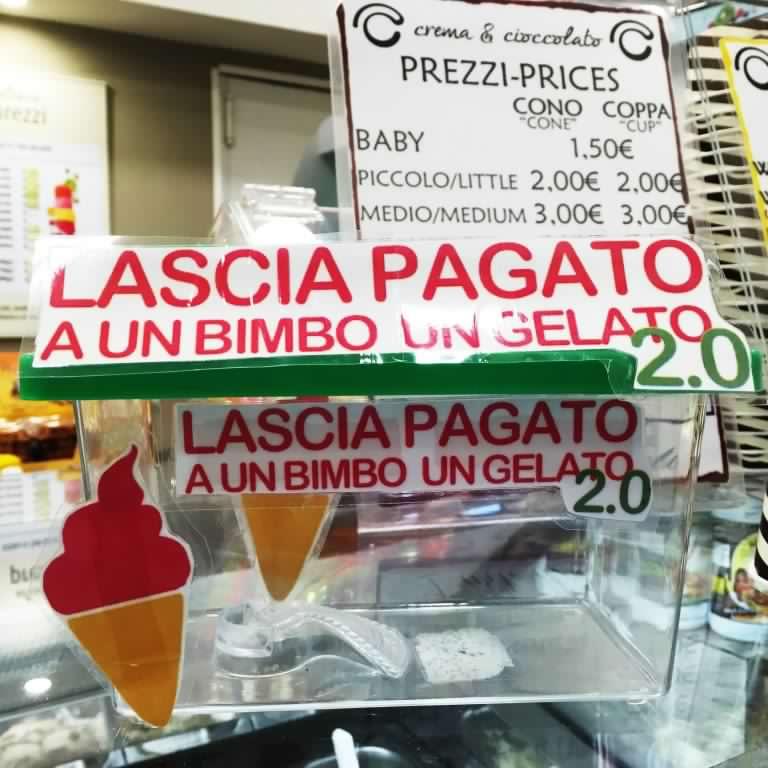 Gelato Sospeso Lascia Pagato